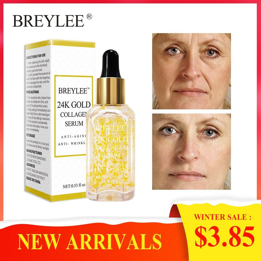 BREYLEE 2018 neue Marke 24 k Gold Serum Kollagen Essenz Anti Aging Anti Falten Gesicht Hautpflege Lift Straffende Gesicht pflege Bleaching