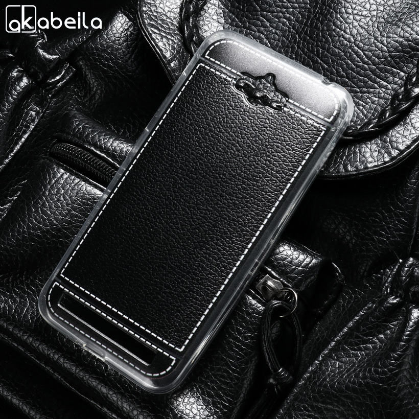 AKABEILA Phone Cover Cases For <font><b>ASUS</b></font> <font><b>Zenfone</b></font> MAX <font><b>ASUS</b></font>_<font><b>Z010DD</b></font> Z010D ZC550KL Z010DA 5.5 inch Covers Soft TPU Litchi Phone Bags Back image
