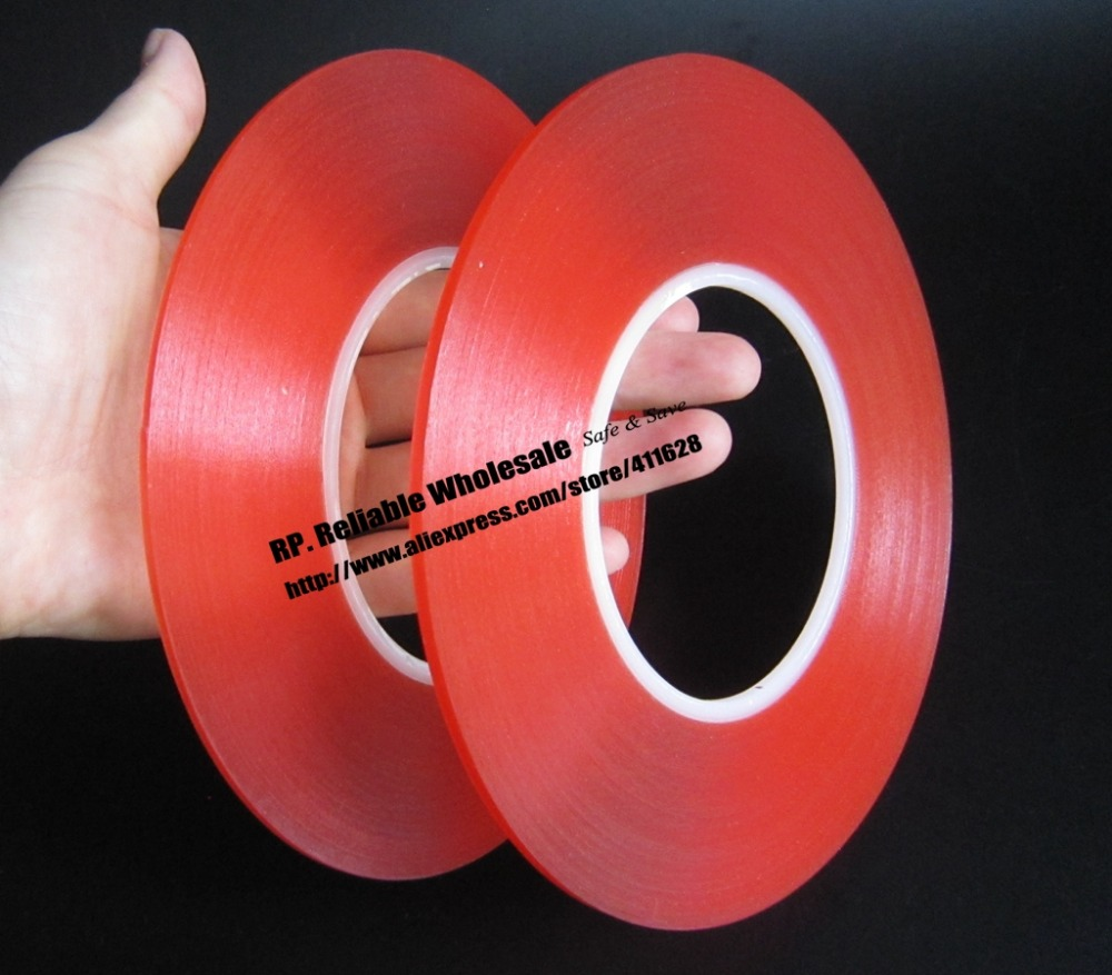 50 Meters/roll, (0.2mm Thick), 2mm~50mm Choose, Super Strong Adhesive Double Sided Sticky Tape for Cellphone Tablet Case Screen 50 meters roll 0 2mm thick 2mm 50mm choose super strong adhesive double sided sticky tape for cellphone tablet case screen