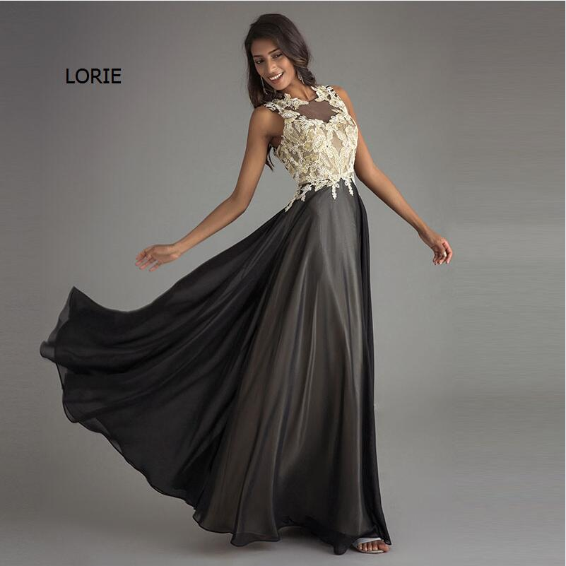 LORIE Party Evening Dress for woman Mother of the Bride Long Dress A Line Appliques Black