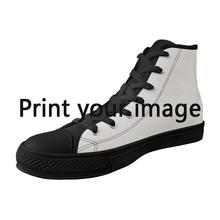 FORUDESIGNS Men Women Shoes Personality Custom Picture High Top Canvas