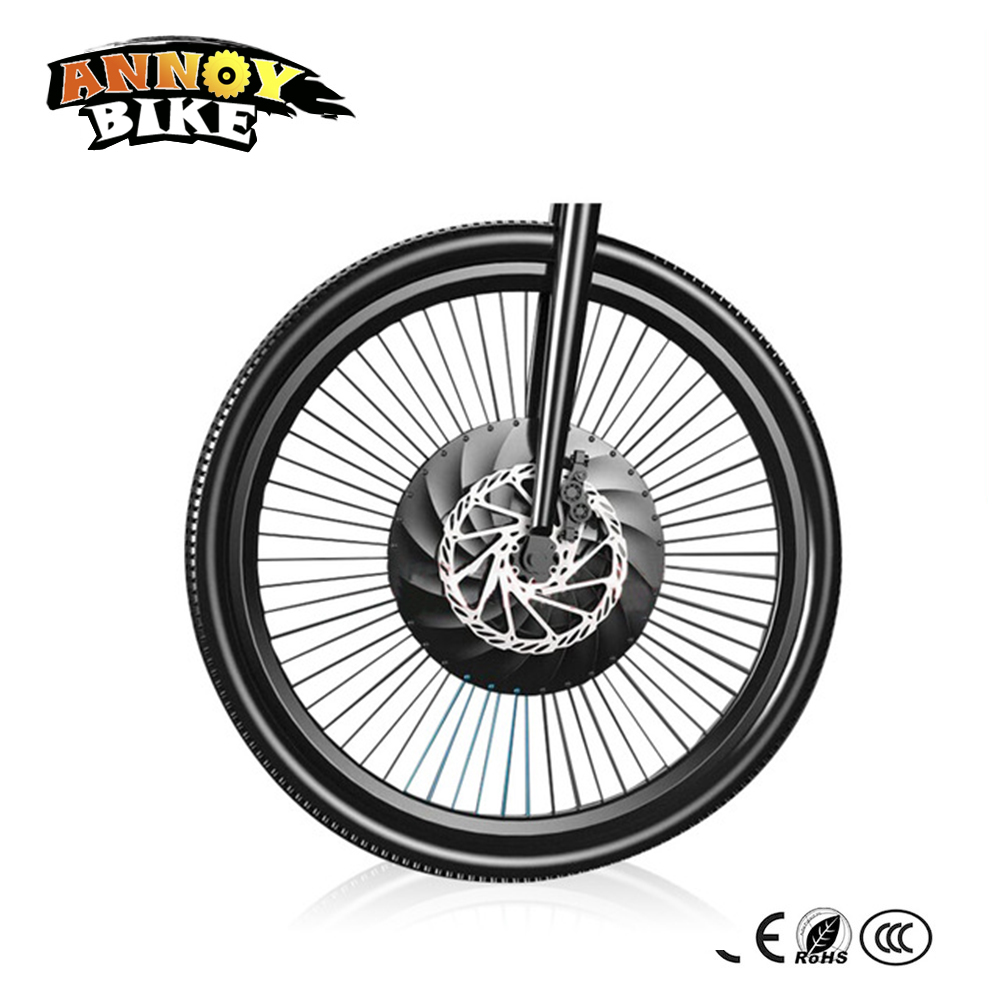 Micro power wheel electric bicycle intelligent accessories Mountain Refit Front wheel E-bike motor with battery and controller