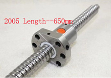 Diameter 20 mm Ballscrew SFU2005 Pitch 5 mm Length 650 mm with Ball nut CNC 3D Printer Parts