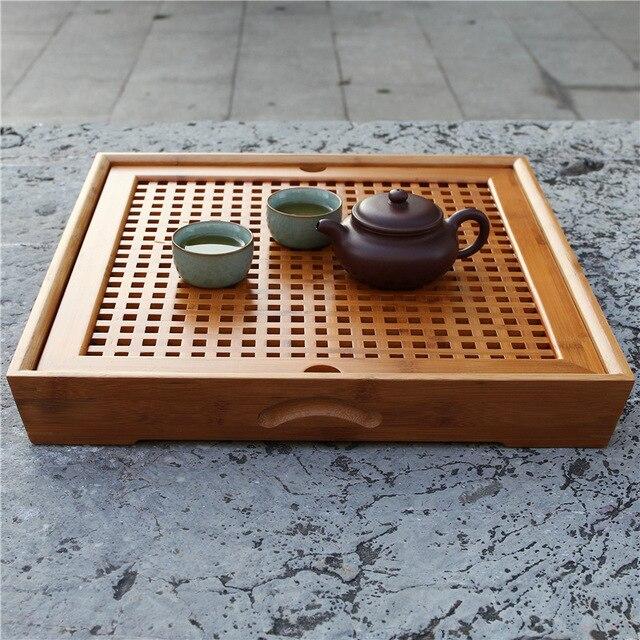 С двойным сетки чайный комплект аксессуаров оптовая продажа всех видов природного бамбук teaboard смешанная серия дренажных вод
