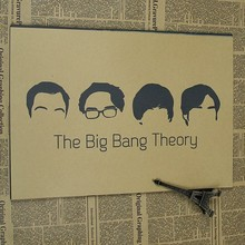 The Big Bang Theory Vintage Classic Movie Poster Wall Paper Home Decor Cuadro Art Painting Mix Order wall sticker
