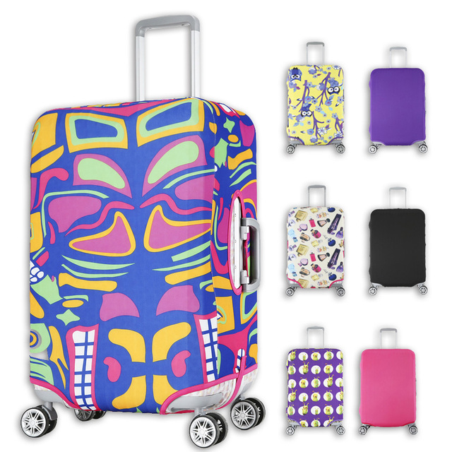 Fashion Luggage Cover Protective For Trunk Case Apply to 18''~29'' Suitcase Cover Thick Elastic Perfectly