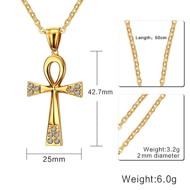 Online Shop Womens Necklaces Eternity Egyptian Ankh Cross Religious