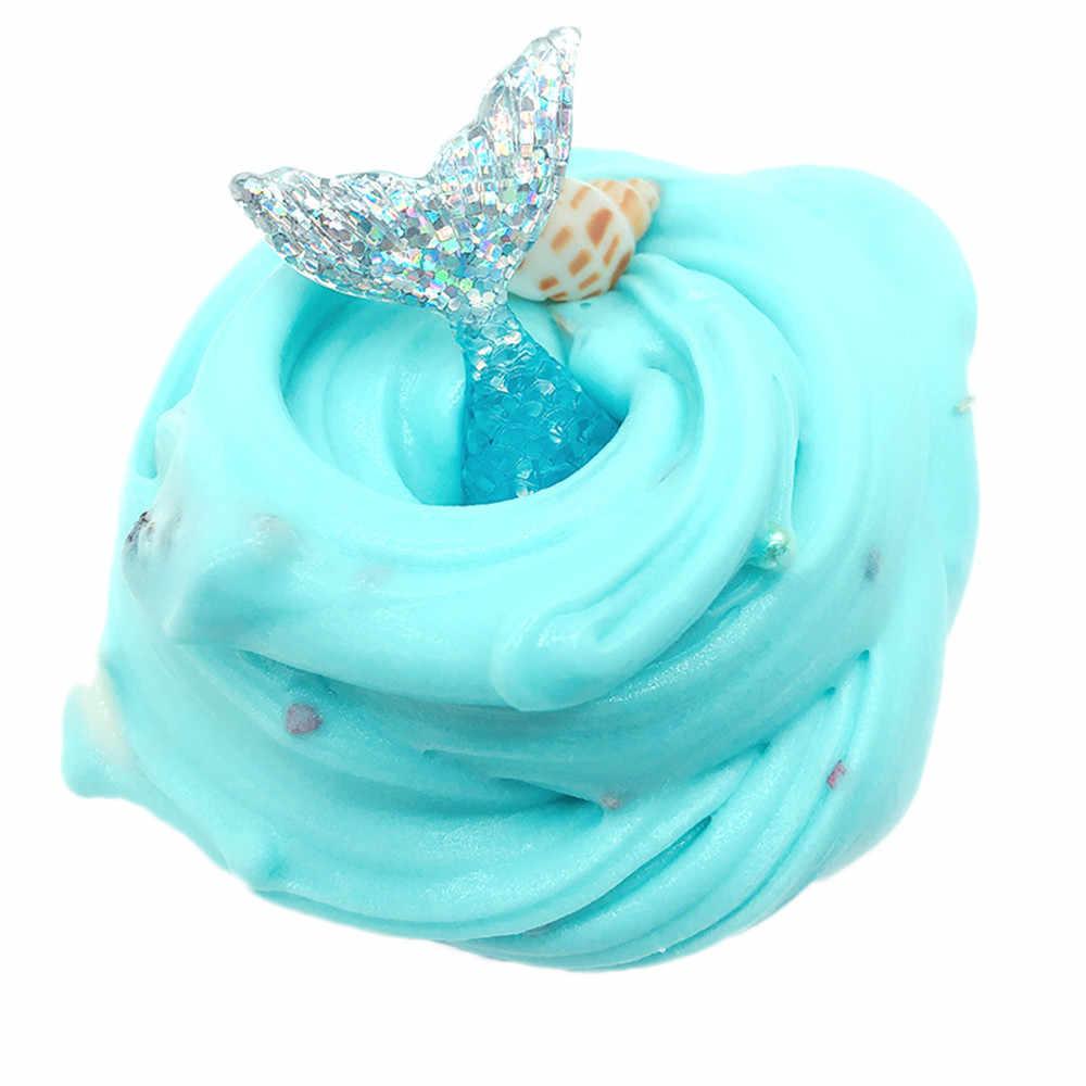 2019 muszla muszle Puff błoto mieszanie chmura Slime Putty pachnące anty stres dla dzieci gliny śmieszne zabawki dla dzieci Squishy Dropshipping