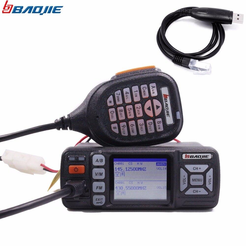 Baojie BJ 318 Car Radio Dual Band VHF UHF Mobile Radio 20 25W Walkie Talkie 10