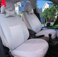 2 front seats Univeraal car seat cover for peugeot 307 206 308 407 207 406 408 301 3008 car accessories car sticker