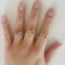 Fashion Jewelry Lucky Number Gold Silver Rose Gold Color Band Wedding Birthday Rings For Women Men