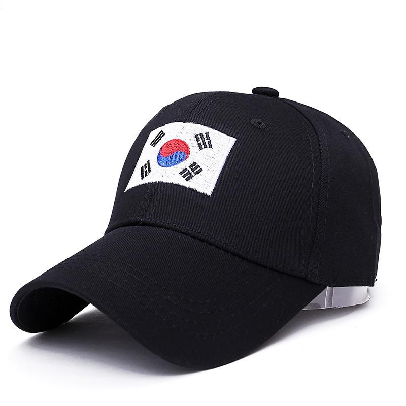 2019 new summer hip hop   cap   men women   baseball     caps   Korea Harajuku national flag embroidery hat Adjustable cotton hats