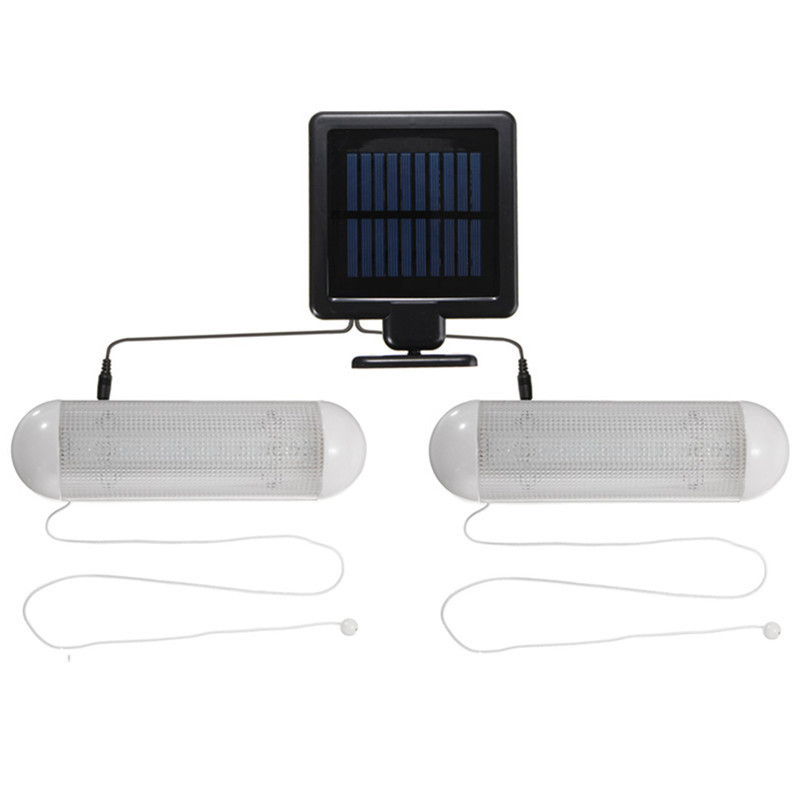 2In1 Solar Powered 10 LED Wall Light Waterproof IP65 Garden Fence Lamp Outdoor Garage Shed Corridor Stable Cord Switch Lamp