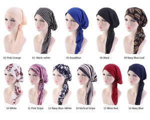 Image 2 - Müslüman tam kapak iç başörtüsü kap islam şapkalar şapka Underscarf bandaj güzel dantel Up türban kadınlar için başörtüsü moda