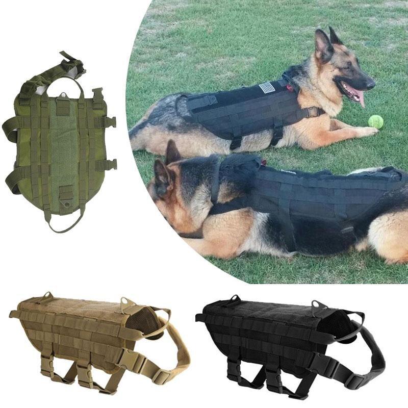 Tactique Militaire Chien Vêtements Réglable Formation Gilet Harnais Molle Veste Ropa Para Perros Hondenkleding Manteau Chien