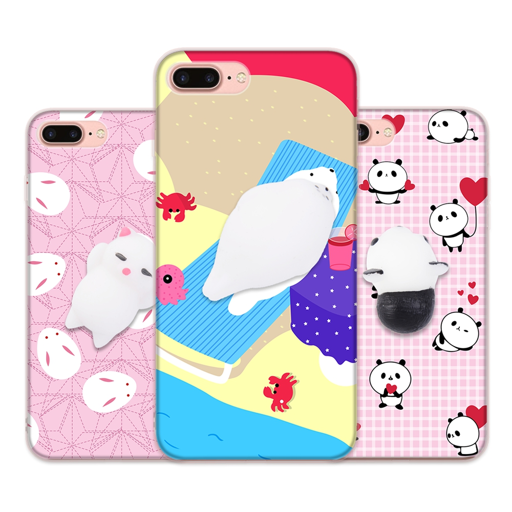 Cover iphone 5 squishy - Squishy Funny Cat Phone Case For Iphone 6 5 S Se Case Anti Stress Claw Kitty Gel Soft Silicone Cover For Iphone 6s 7 Plus Fundas In Fitted Cases From
