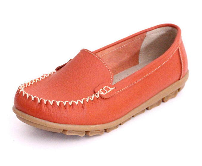 48ae78a87e8 Old Women Shoes Leather Loafers Mother Casual Fashion Slip on Breathable  Comfortable Flat Single shoe Black -in Women s Flats from Shoes on  Aliexpress.com ...