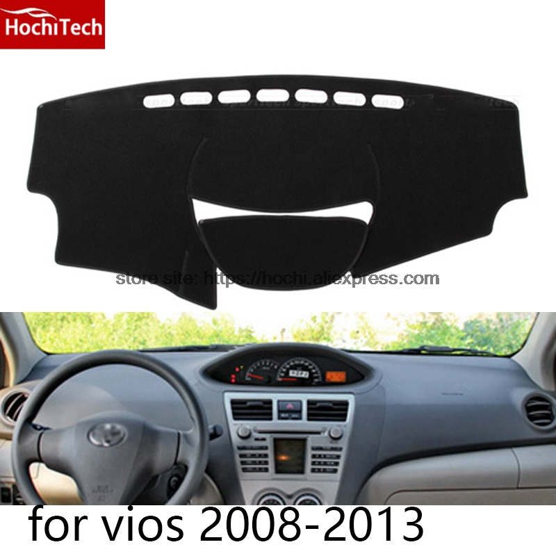 dashboard mat Protective pad Shade Cushion Photophobism Pad car styling accessories for toyota vios 2008 to 2016 for toyota prius 2012 2013 right hand drive dashboard mat protective pad black car styling interior refit sticker mat products