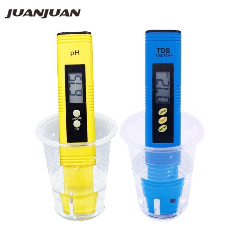 kit ideal para acuario comprobador de calidad de agua CE molop. calibraci/ón autom/ática agua potable piscina Medidor de pH digital y medidor de TDS