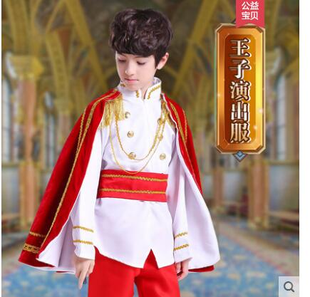 Red KING Cape Royalty PRINCIPE Costume Costume Adulto XL
