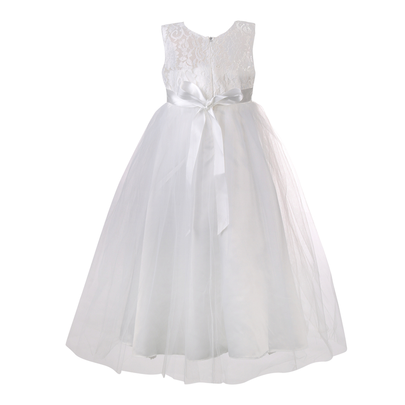 Princess Lace Girl Dress Summer 2017 Tutu Wedding Birthday Party Dresses For Girls Children Costume Teenager Prom Designs 3-12Y girl white dress rose lace costume wedding dresses princess toddler girls tutu summer party prom for girl kids evening clothing