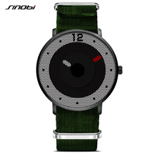 SINOBI Sports Men's Wrist Watches Army Green Nato Nylon Watchband Luxury Brand Male Geneva Quartz Clock Boys Wristwatch 2017 L07