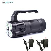 Krachtige led zaklamp cree xm-t6 Gebruik 4*18650 batterij Direct opladen Outdoor Jacht zoeken en rescue Draagbare licht