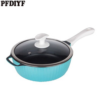 PFDIYF Non Stick Fry Pan Fried Egg Steak Skillet Grill Pan For Omelette Pancake Making Aluminum Frying Pan Kitchen Utensils