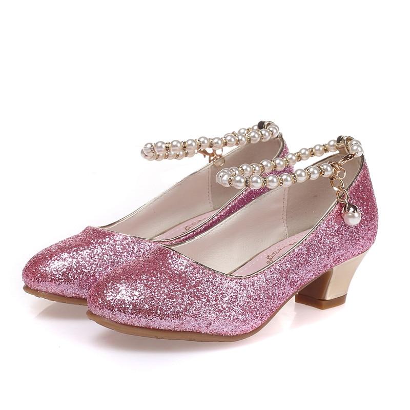 ULKNN 2021 Girls Princess Sandals enfants Dress Shoes For Girls High Heel Shoes Kids Summer Sandals Children Party sanda