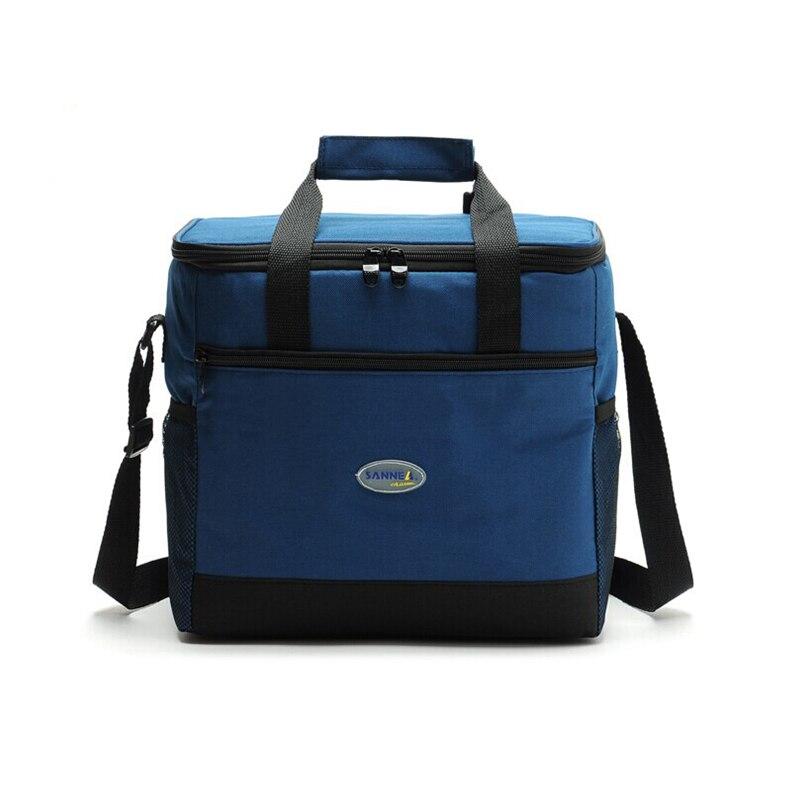 16L Cooler Bag Waterproof Cloth Shoulder Ice Pack For Food Drink Insulation Thermal Picnic Refrigerator Bag