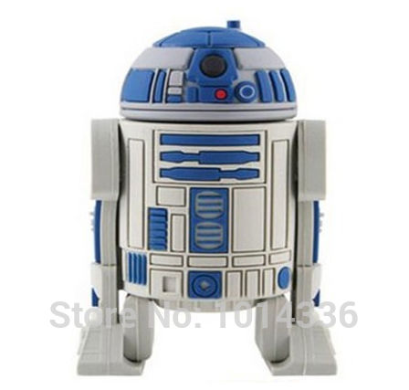 Star War Series Robot R2D2 USB Flash Drive Memory Disk Card Stick Thumb/Car/Pendrive Key /creative Gift 2GB 4GB 8GB 16GB S40