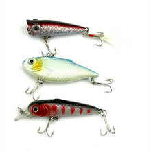 3pcs Assorted Minnow VIB Fishing Lures New Fisher Crank Baits Swimbait Plastic Artificial Bionic Fish Tackle Treble Hook