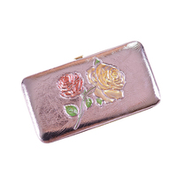 New Flowers Rose Printings Women Wallet With Wristlets Phone Purses Case Cards Holders Dollar Price Clutch