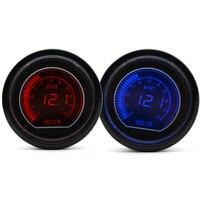 DRAGON GAUGE 52mm EVO Volt Gauge Red Blue Dual Led Display