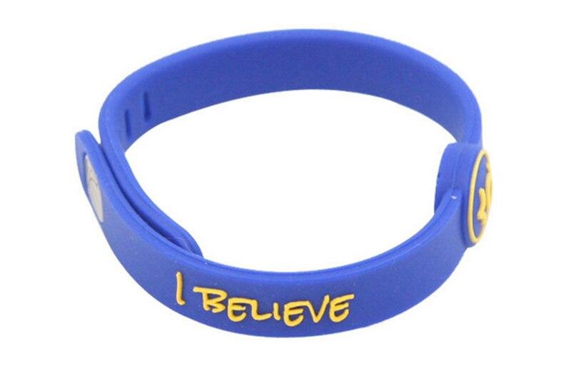 DIY Foreign trade shop 2 sets high quality new jewelry basketball sports power wristband balance bracelet super star signature energy bangle for durant