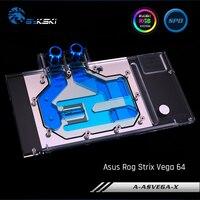 Bykski A-ASVEGA STRIX-X  Full Cover Graphics Card Water Cooling Block  For Asus Rog Strix Vega 64