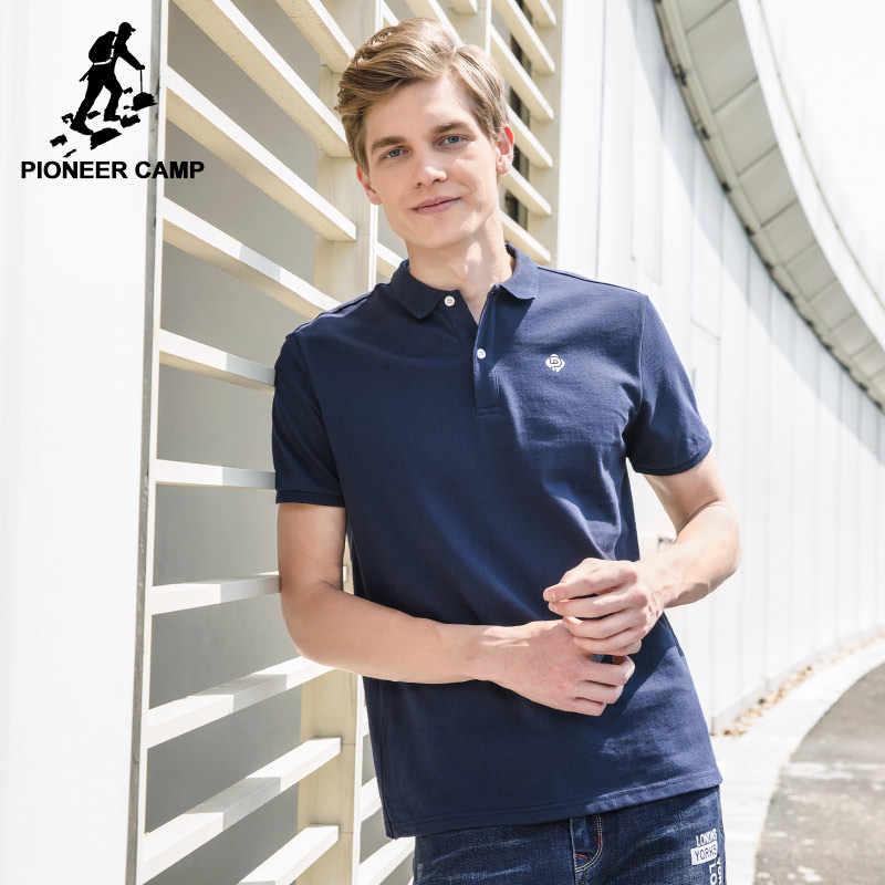 27eeebd0d42 Пионерский лагерь новый летний Мужские Поло рубашка Для мужчин наивысшего  качества 100% хлопок Для мужчин