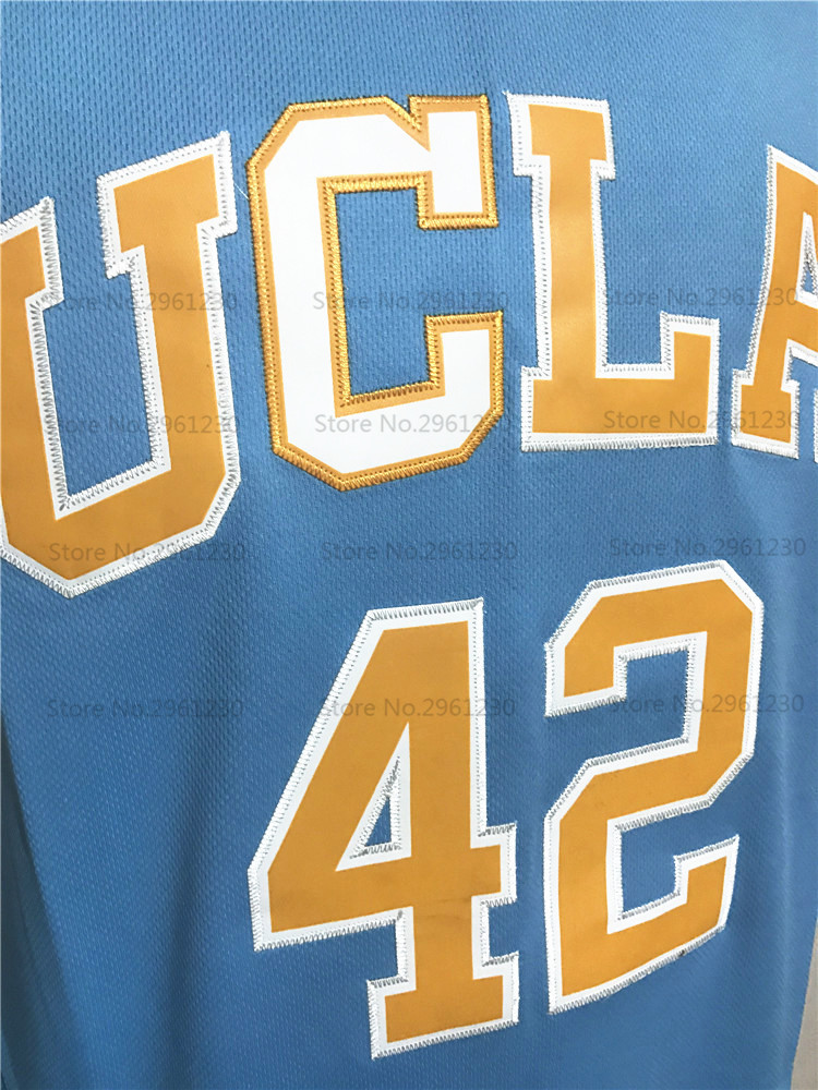 83f62ee8dd0e Cheap Mens UCLA Bruins College Basketball Jersey 42 Kevin Love Blue Embroidery  Logos NEW ...