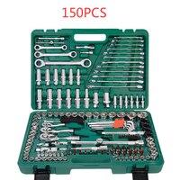 150PCS Auto Repair Tools, 1/4 Inch Car Repair Kit Socket Ratchet Wrench Combination Package Mixed Tool Set