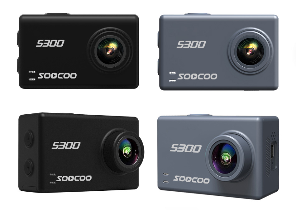 Soocoo S300 action camera 4k 30FPS 2.35″ Touchscreen wifi microphone GPS Mic remote control case camera sport camera 4k