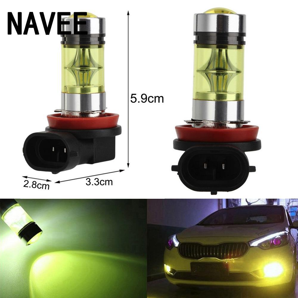 2pc H7 Bright 12-24v 2828SMD 100W 20LED Car DRL Fog Light Headlight Lamp Bulb#ur