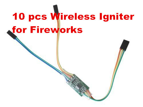 10pcs Trigger Switch Wireless Igniter Fireworks Pulling Color Smoke for RC Car Airplane helicopter Boat