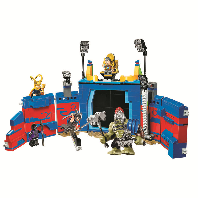 Justice League Thor Vs Hulk Arena CLash Bela Compatible Legoe Super Heroes Building Blocks Bricks Toys Marvel Compatible Lepins bela 10241 super heroes avengers hulk lab smash set with taskmaster falcon hulk thor turret robot modok action figure toys