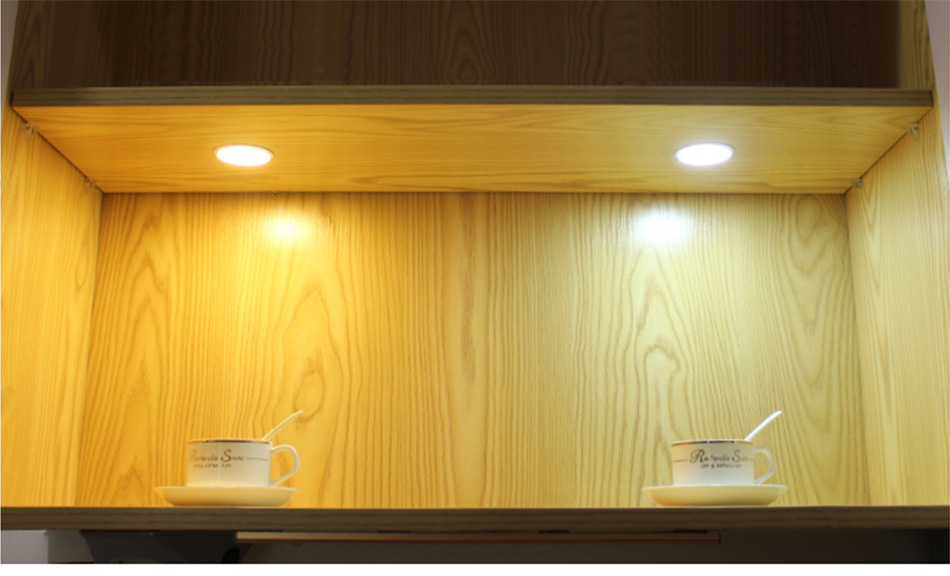 2.5W LED Cabinet Lights 6Pcs Under Counter Shelf Furniture Lighting Kitchen Cupboard Soft Light Illuminate Showcase Exhibition12