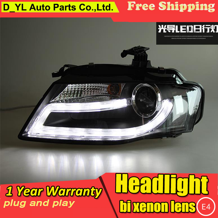 D YL Car Styling for Audi A4 Headlights 2008 2012 A4L LED Headlight DRL Bi Xenon