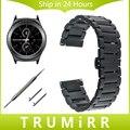 20mm Stainless Steel Watch Band for Samsung Gear S2 Classic R732 & R735 Moto 360 2 42mm Men Strap Butterfly Buckle Belt Bracelet