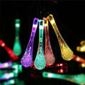15ft 20 LED 20ft 30 LED Fairy String Water Drop Lighting for Christmas Trees, Garden, Patio, Wedding, Party, Holiday Decoration
