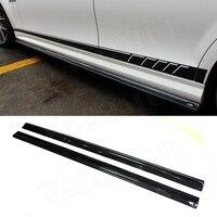 Для Benz C Class W204 C204 C300 C63 AMG 2012 2014 углеродного волокна/FRP сбоку юбка бампера для губ средства ухода за кожей комплект