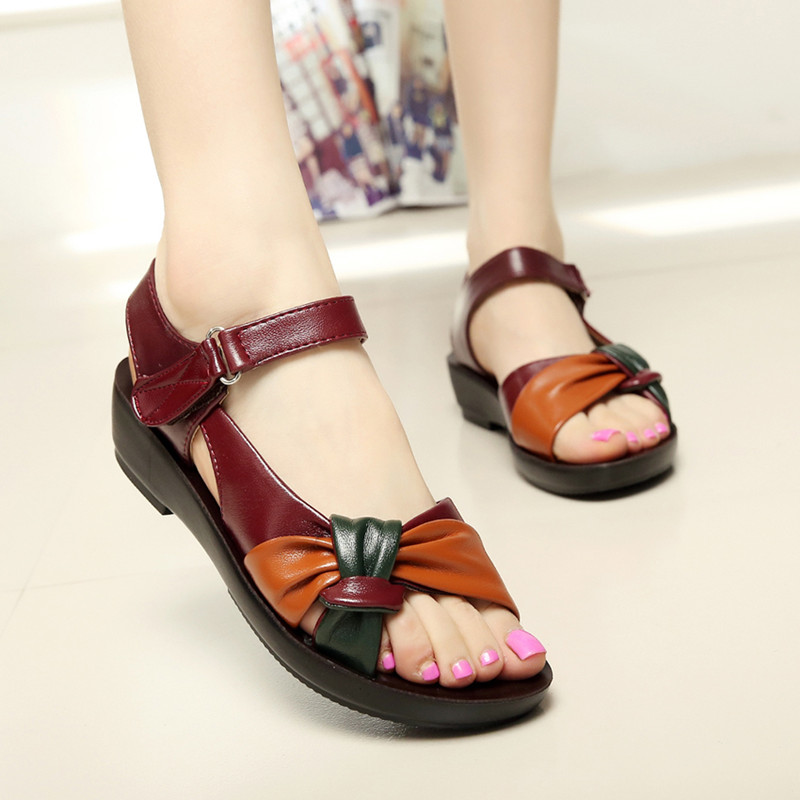 LAKESHI Platform Sandals Women Shoes 43 Footwear Plus-Size Summer Flat Fashion