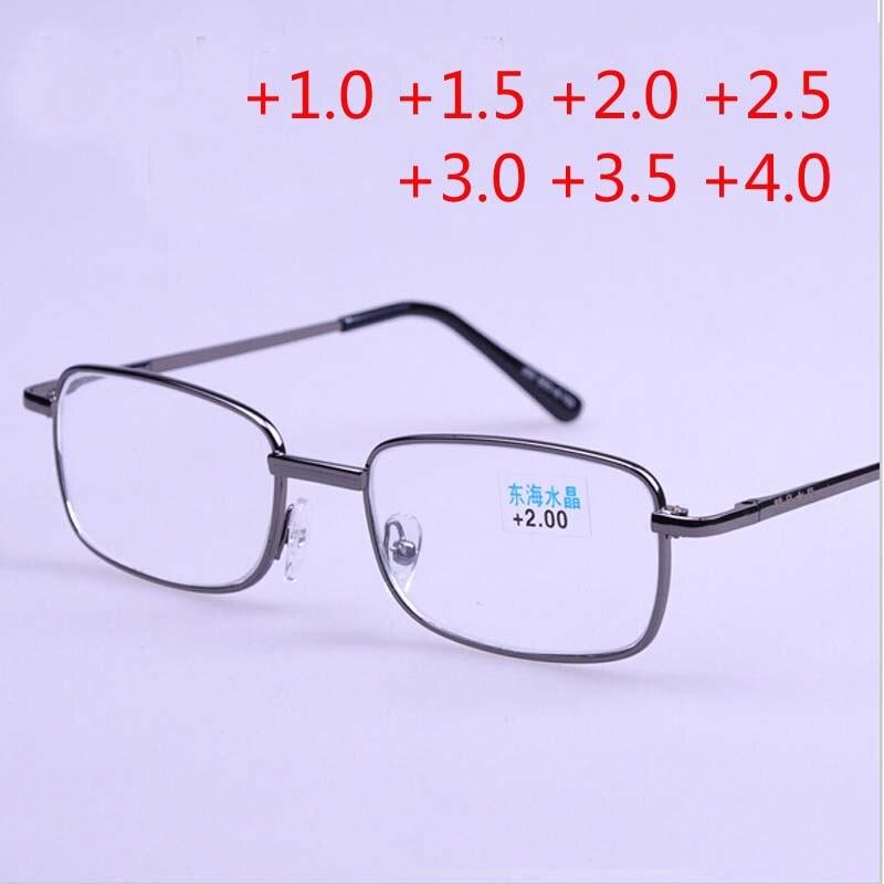 12a2b2b62 Pessoa idosa leitores unissex óculos de Armação de metal óculos de leitura  Presbiopia lupa + 1 + 1.5 + 2 + 2.5 + 3.0 + 3.5 + 4.0